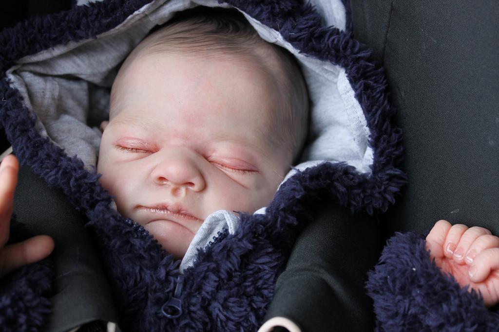 "Beautiful Reborn Newborn Baby Boy Doll ""Gus"" Sculpted by Tina Kewy"