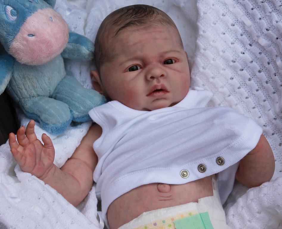 Beautiful Reborn Newborn Baby Boy Doll Lovelyn Sam's Reborn Nursery