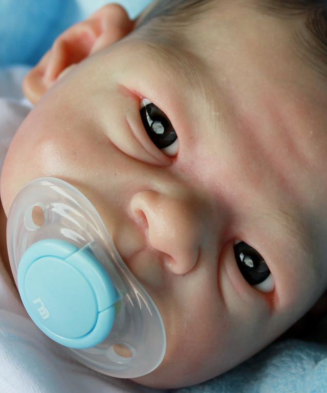 """Beautiful Reborn Newborn Baby Boy Doll """"Phyllis"""" Sculpted by Elisa Marx"""